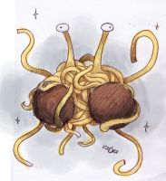 Flying Spagetti Monster by Tysirr