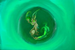 The poke orb of leafeon by wazzy88