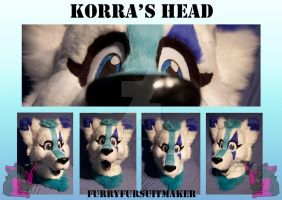 Korra's head by FurryFursuitMaker
