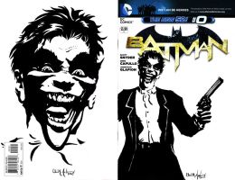 Batman Sketch Cover Joker by ChrisMcJunkin
