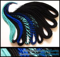 blueblack dreads by FilthyDreads