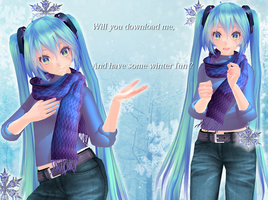 Winter Style Miku Download ( early xmass present ) by roosjuh14290