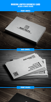 Modern lawyer business card by harmonikas996