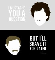 - BBC Sherlock Mustache poster - by GoodMorning-World