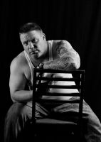 My new self pic B/W by Dom410