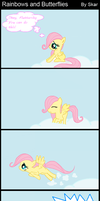 Rainbows and Butterflies (MLP FiM Comic) by DeviantDalton