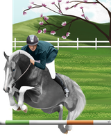 Spring show jumping freestyle-Gladiator's Pride by YleniaBax
