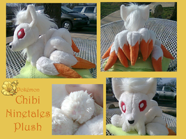 Chibi Ninetales Plush by methuselah-alchemist