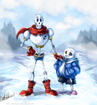 =Undertale= Papyrus and Sans by LeoKatana