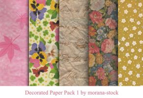 Decorated Paper Pack 1 by morana-stock