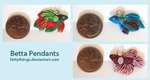 Betta Pendants by Bittythings