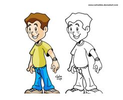 Cartoon boy by carloslima