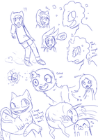 Adventure Time SketchDump by Smudgeful-Thinking