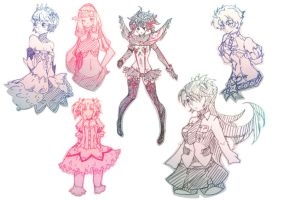 Trad Drawing Compilation by rika-dono