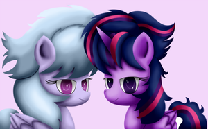 Twilight and Cloudchaser by King-Sombrero