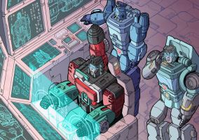 Operating on Optimus by J-Rayner
