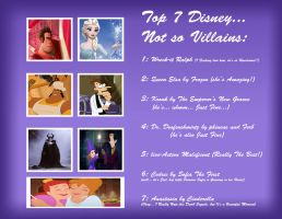 Top 7 Disney Not so Villains by Cookie-Lovey