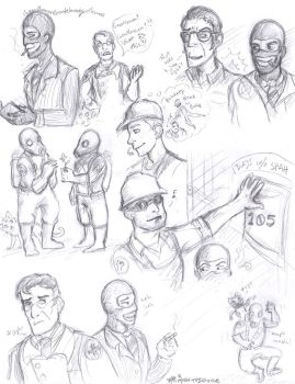 TF2 Sketches 08 by AquariusWolf