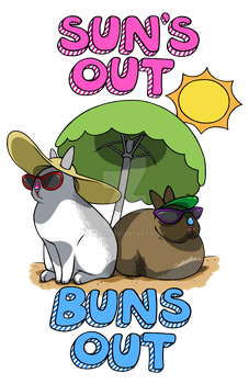 Sun's Out Buns Out by m3ru