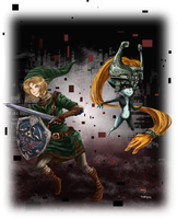 Link and Midna by Doveyyyy