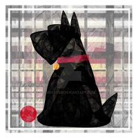Black Scottie Dog by rockgem