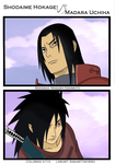Shodaime VS Madara by k11n