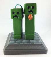 Creeper Wedding Cake Topper by LeiliaClay