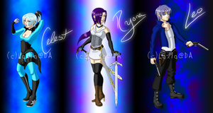 Celest, Ryona and Leo Wheeler by Laxia