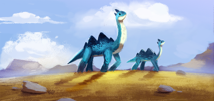 Daily Paint 653. Jurassic Book. Color Board Test 2 by Cryptid-Creations