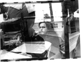 double exposure self portrait by xael-lones