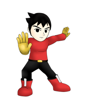 Smash Bros Collab - Mii Brawler by MasterHandG465
