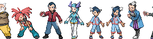 Hoenn Gym Leader and Champion Sprites by Lightbulb15