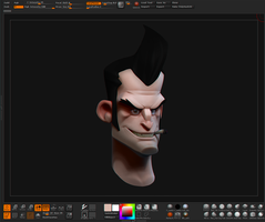 Stranged Bust - Zbrush preview by Guntharf