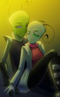 Quiet Moment_ Riz and Kit by AngelNocturne