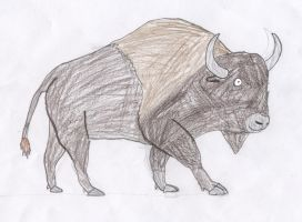 Pony Prehistory: Steppe Bison by Wesdaaman