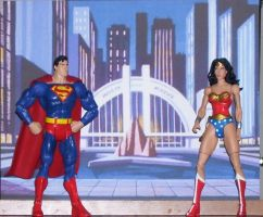 dc universe superman and wonder woman by nightwing70