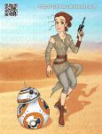 Rey and BB-8 from Star Wars The Force Awakens by Richmen