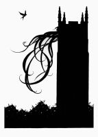 Rapunzel Silhouette 2 by LaughingAstarael