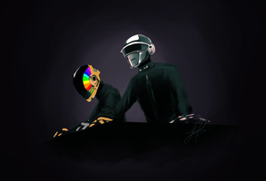 Daft Punk by Tikiface