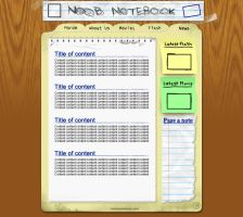 Noob Notebook [site design] by smosh