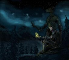 Skyrim nights by LordKomodo