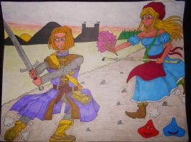 Dragon Quest XI - Hero and Emma by BardofMaple