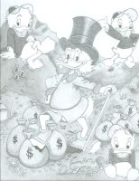 Scrooge, Huey, Dewey and Louie by Jessica17