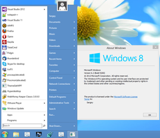 Windows 8-styled Skin Pack for Classic Shell by hb860