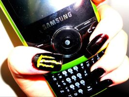 Monster Energy Drink Nail Art by Mushroomnails189