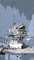 Houseboat by TangoCharlieESQ