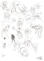 Random sketch page by SweetSnake3