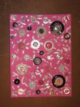 Recycled Art On Canvas - Pink/Silver Collage by Art-Excetera-ESQ
