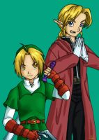 Ed and Link Cosplay by Malu-CLBS