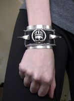 Black Leather Cuff 1 by Aranwen